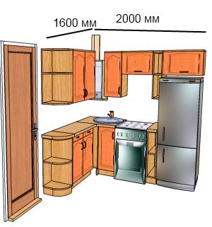 Мебель на заказ: Проект кухни с газовой колонкой