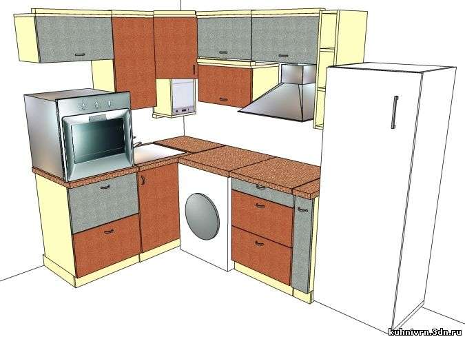 Кухня угловая в хрущёвке мдф лаванда