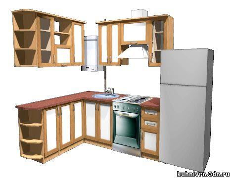 Фото кухни с газовой колонкой - Дизайн.